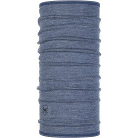 Buff Lightweight 3/4 Merino Wool Neck Tube light denim multi stripes
